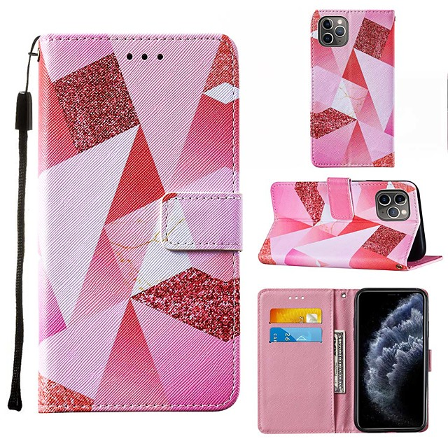 Case For iPhone 6 6plus 7 7P iPhone 8 8P iPhone X iPhone XS XR XS max iPhone 11 11 Pro 11 Pro Max iPhoneSE (2020) Wallet Card Holder Shockproof Full Body Cases Geometric Pattern PU Leather TPU