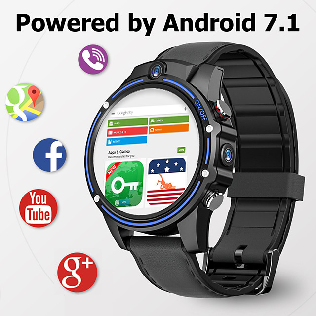 KOSPET Vision Smart Watch 3GB 32GB Dual Camera 5.0MP Bluetooth 800mAh GPS Sport Android 4G Smartwatch Men For IOS Android Phone