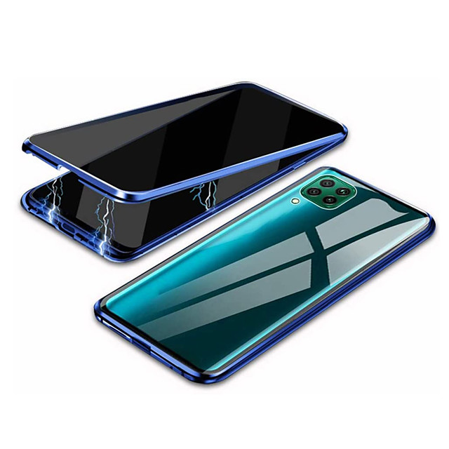 Case For Huawei P40 Shockproof Transparent Full Body Cases Transparent Tempered Glass Metal Case For Huawei P Smart 2020 P40 Lite E P40 Lite P30 P30 Lite
