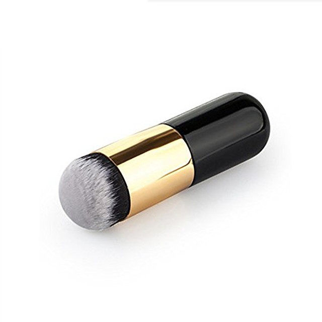 1 pcs round short handle makeup brush powder foundation eyeshadow eyeliner lip cosmetic brush.
