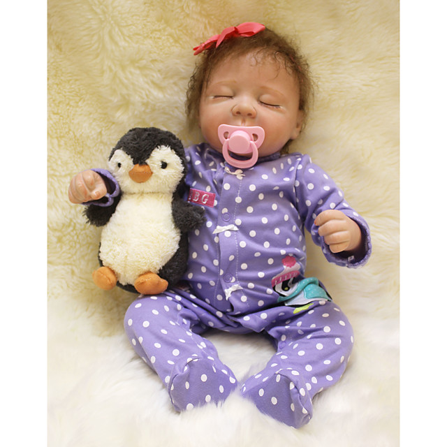 Otard Dolls 20 inch Reborn Baby Doll Baby Boy Baby Girl lifelike Gift Cute Tipped and Sealed Nails Natural Skin Tone 3/4 Silicone Limbs and Cotton Filled Body with Clothes and Accessories for Girls