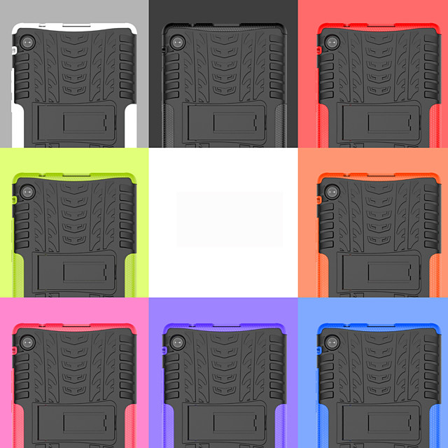 Case For Huawei MatePad T8 Shockproof with Stand Back Cover Solid Colored TPU PC