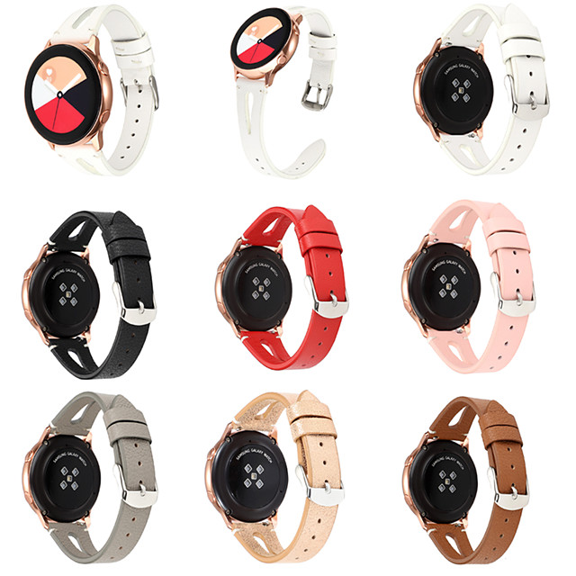 Watch Band forSamsung Galaxy Watch 42mm 46mm Genuine Leather Wrist Strap