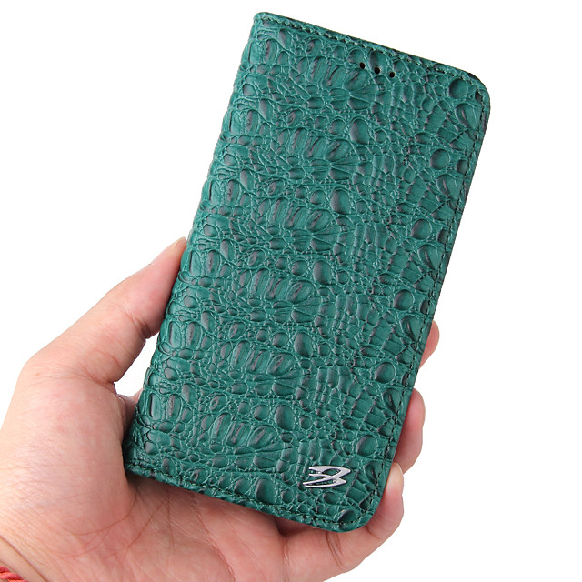 Case For iPhone 6s iPhone 6 Wallet Shockproof Magnetic Full Body Cases Lines Waves Solid Colored Genuine Leather PC