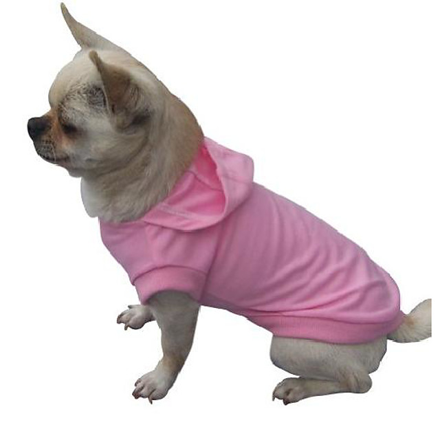 freedogs puppy dogs cotton winter clothing tee hoodie-pink-s