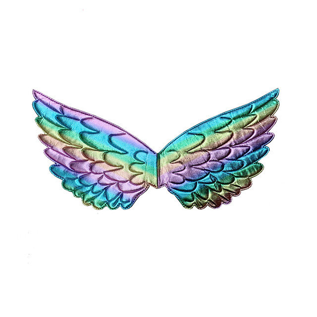 Princess Wings Girls' Movie Cosplay New Year's Golden / Silver / Dark Blue Wings Christmas Halloween Carnival Plastics