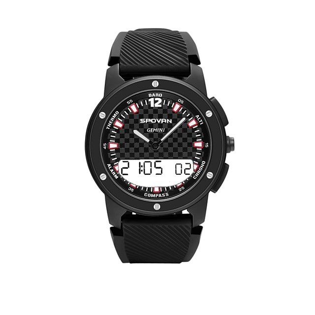 Spovan Outdoor Long Battery-life Smartwatch Support Compass/ Altimeter/ Heart Rate Monitor