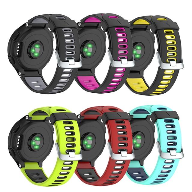 Watch Band for Forerunner 735 / Forerunner 630 / Forerunner 620 Garmin Classic Buckle Silicone Wrist Strap