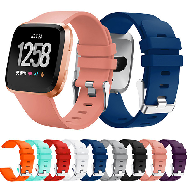 Watch Band for Fitbit Versa / Fitbi Versa Lite / fitbit versa 2 Fitbit Sport Band Silicone Wrist Strap