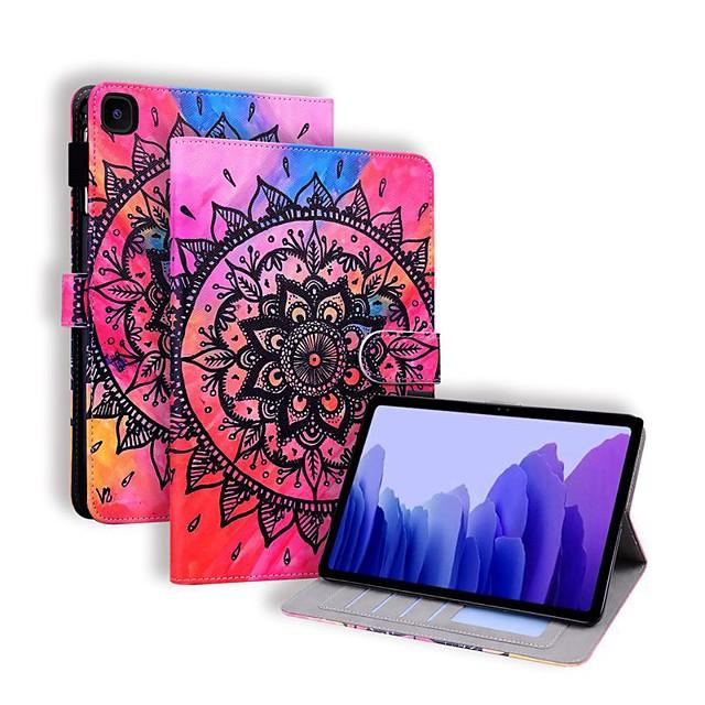 Case For Samsung Galaxy Tab A7 10.4 2020 T505 S7 T870 T875 T720 T725 Tab s5e Tab A2 10.5 T590 Tab A 10.1 T510 Tab A 8.0 T290 295 T580 P610 Card Holder with Stand Flip Full Body Cases Flower PU Leather