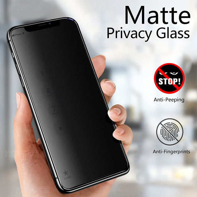 2PCS 3D Anti Peeping Privacy Tempered Glass For iPhone 12 iPhone 11 Pro XS Max XR X Screen Protector for iPhone 12 Pro Max Film