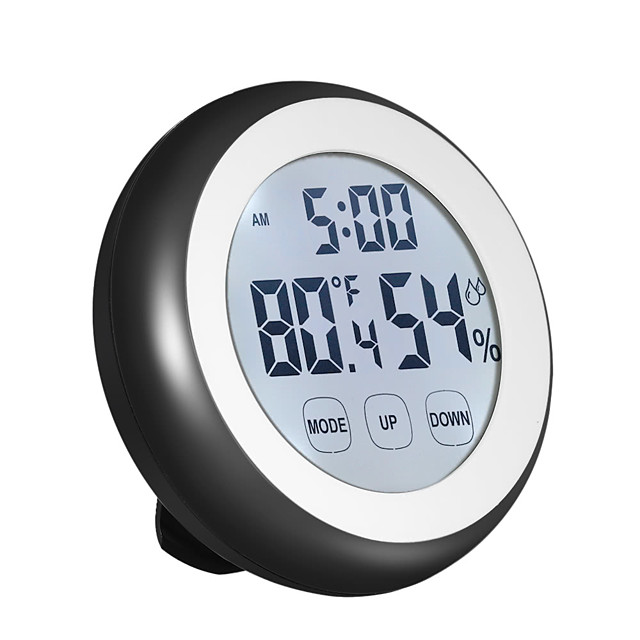 C/F Digital Thermometer Hygrometer Temperature Humidity Meter Alarm Clock Touch Key with Backlight