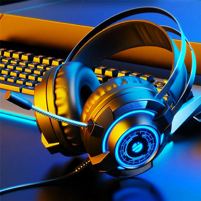 Wired Gaming Headset with Microphone 2-in-1 7.1 Channel Gaming Headset Notebook Desktop Universal For PC