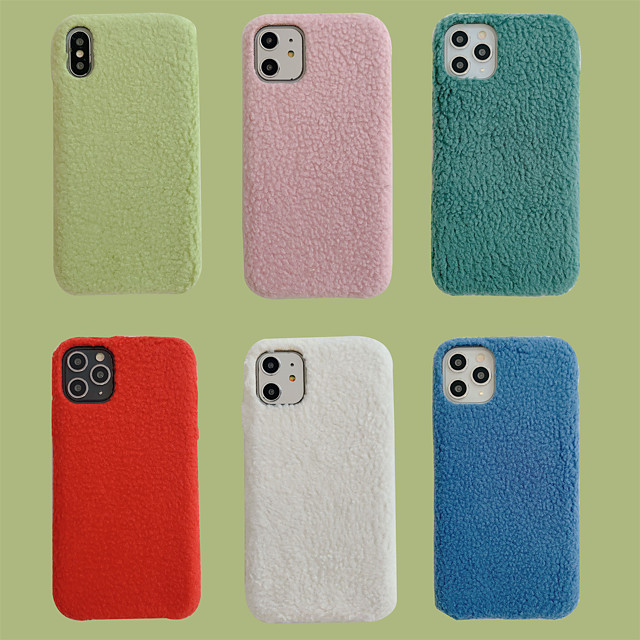 Case For Apple iPhone 7 8 7plus 8plus X XR XS XSMax SE(2020) iPhone 11 11Pro 11ProMax Shockproof Ultra-thin Pattern Back Cover Solid Colored Textile TPU