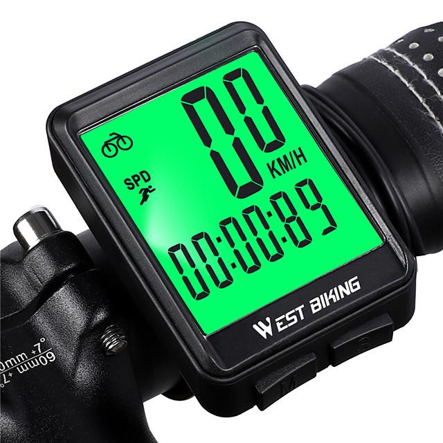 ασύρματο, αδιάβροχο ταχύμετρο ποδηλάτου υπολογιστή και οδόμετρο με χρονόμετρο οπίσθιου φωτισμού LCD& αυτόματη αφύπνιση