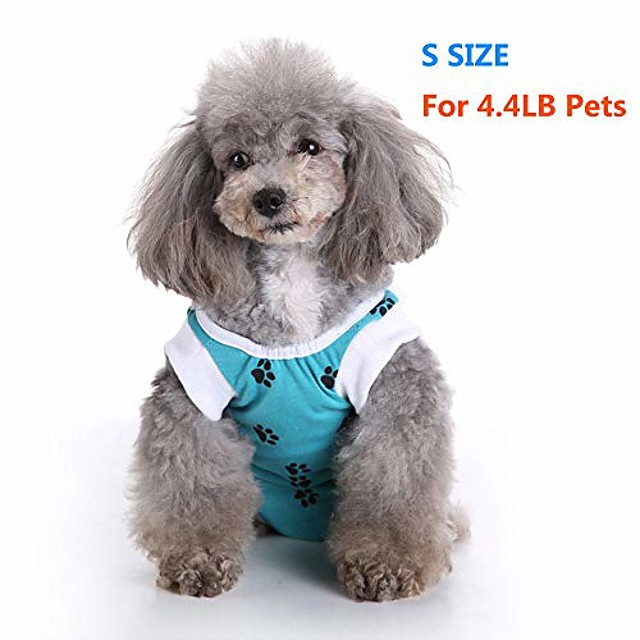 dog surgery recovery suit for dogs surgical pet suit wound cover dog cat puppy's post after surgery wear pet medical shirt bodysuit dog neuter cone alternatives (s)