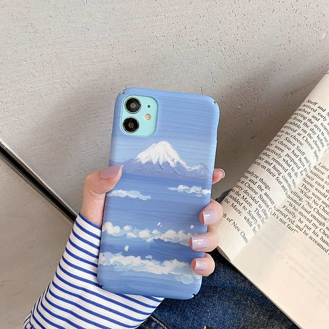 Case For Apple iPhone SE 2020 Ultra thin Frosted Back Cover Scenery PC iPhone 11 Pro Max XS Max XR 7 8 Plus 6s 6 Plus