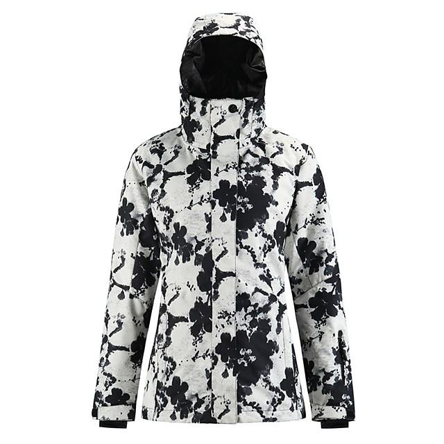 Women's Ski Jacket Skiing Snowboarding Winter Sports Waterproof Windproof Warm 100% Polyester Top Ski Wear