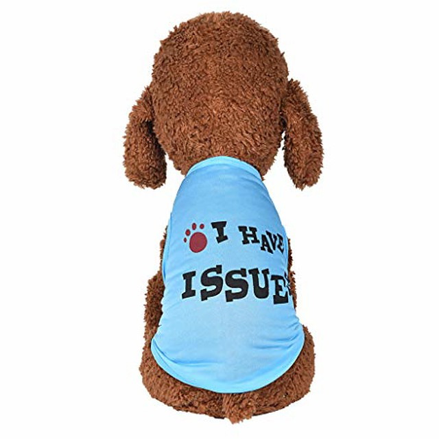 wakeu dog clothes for small dogs boy yorkies girl chihuahua summer fall - puppy cat shirt i have issure vest tank tops - pet schnauzer female male clothing