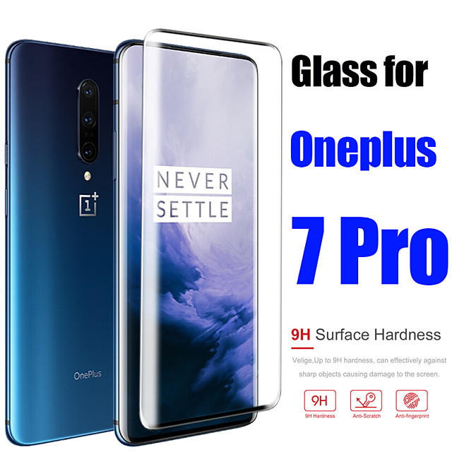 Protective Glass Case For Oneplus 7 Pro Tempered Glass Full Cover Screen Protector Film
