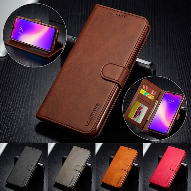 Case For Apple iPhone 11 / iPhone 11 Pro / iPhone 11 Pro Max Card Holder / Flip / Magnetic Full Body Cases Solid Colored PU Leather