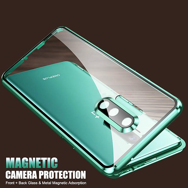 téléphone Coque Pour OnePlus Coque Intégrale Etui folio OnePlus 8 Pro OnePlus 8 Antichoc Clapet Transparente Transparente Verre Trempé Métal