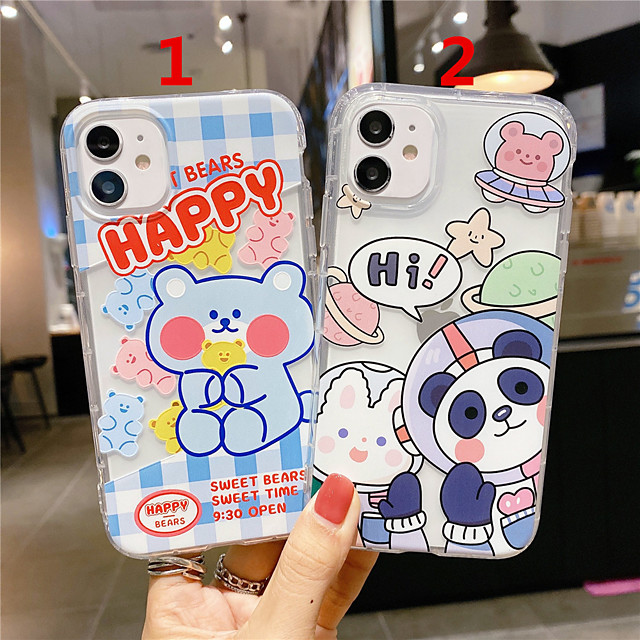 Case For Apple Scene Map iPhone 12 11 Pro Max XS Max Cartoon Series Pattern TPU Material Transparent Air Pressure Drop Resistant Mobile Phone Case