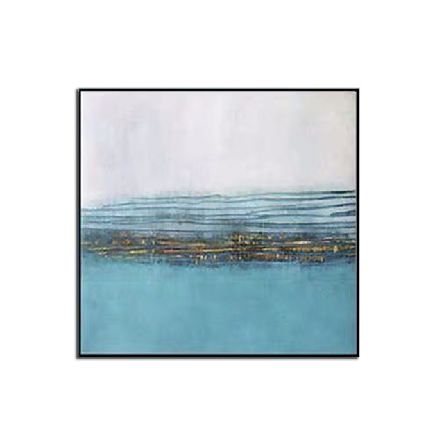 Oil Painting Hand Painted - Abstract Landscape Comtemporary Modern Rolled Canvas (No Frame)
