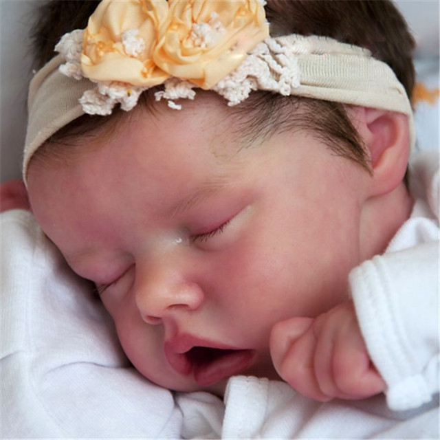 17 inch Reborn Doll Baby & Toddler Toy Baby Girl Reborn Baby Doll Twins A Newborn lifelike Hand Made Simulation Floppy Head Cloth Silicone Vinyl with Clothes and Accessories for Girls' Birthday and