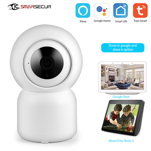 Tuya Smart life WiFi IP Camera 1080P Home Security Mini Camera Night Vision Infrared Two Way Audio