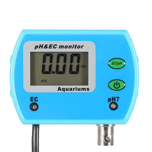 Mini Professional 2 in 1 Water Quality Tester Monitor Online pH / EC-EU PLUG