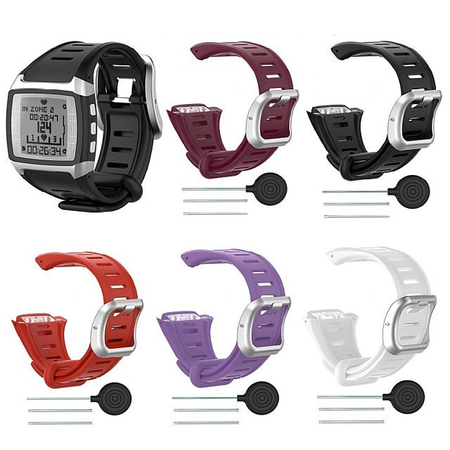 Watch Band for POLAR  FT60 Polar Classic Buckle Silicone Wrist Strap