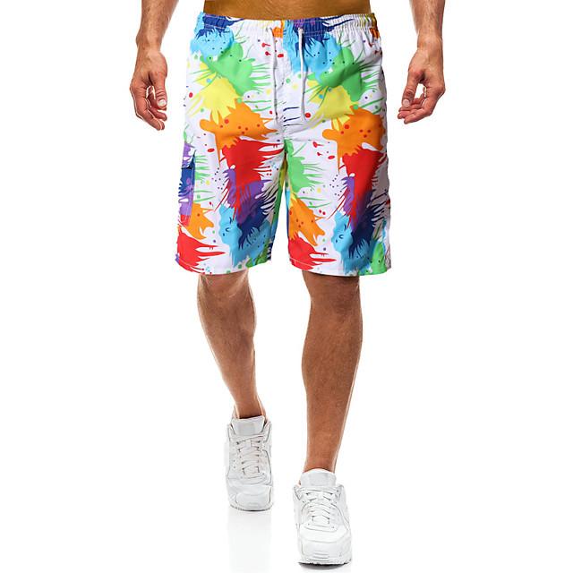Men's Swim Shorts Swim Trunks Board Shorts Breathable Quick Dry UPF50+ Drawstring - Swimming Surfing Water Sports Painting Summer