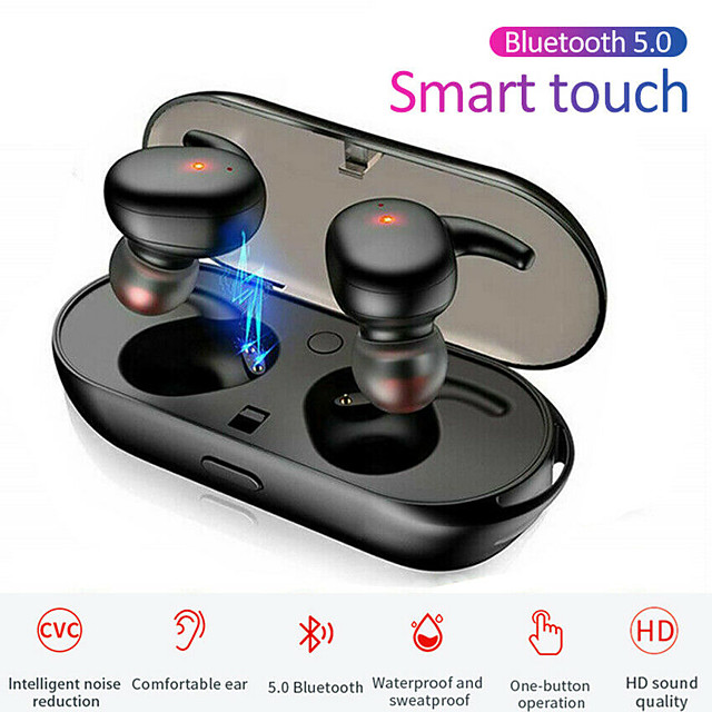 LITBest TWS Bluetooth 5.0 Headphones Mini Wireless Earphone Touch Control Waterproof  Stereo Sport Earbuds headset Microphone For Android and IOS