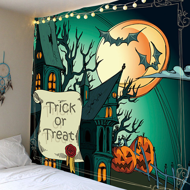 Classic Theme / Halloween Wall Decor 100% Polyester Classic / Psychedelic Wall Art, 150*100 cm Decoration