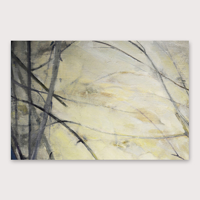 Oil Painting Hand Painted - Abstract Landscape Modern Stretched Canvas
