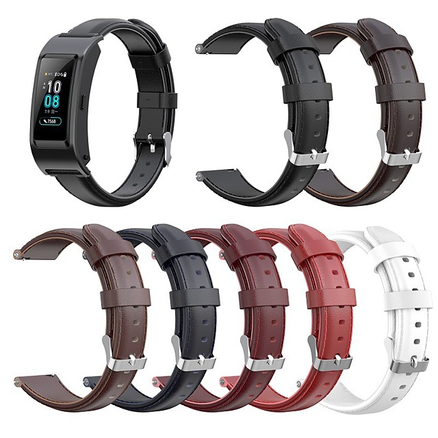 Watch Band for Huawei Fit / Huawei Honor S1 / Huawei B5 Huawei Classic Buckle Genuine Leather Wrist Strap