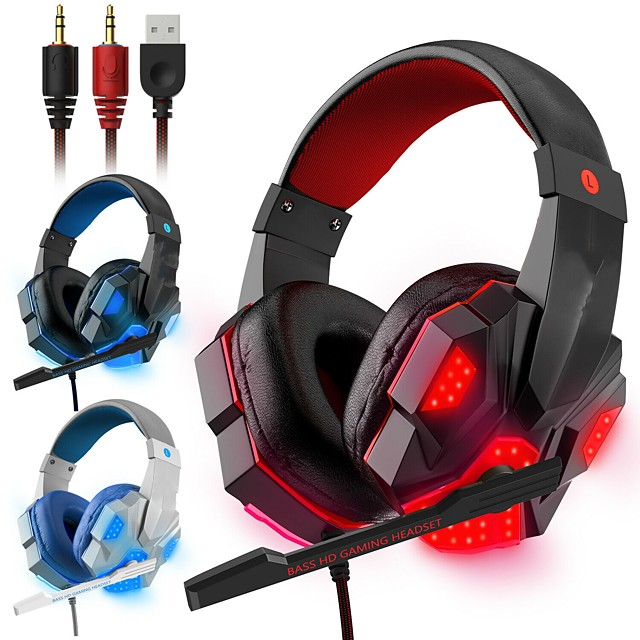 LITBest 830  Gaming Headset with Mic Led Light Gamer Headset   Over Ear Headset with Surround Sound Gamer Headset