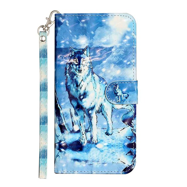 Case For Apple iPhone 11 iPhone 11 Pro iPhone 11 Pro Max Wallet Card Holder with Stand Full Body Cases Snow Mountain Wolf PU Leather TPU for iPhone 12 iPhone Xs Max iPhone Xr iPhone Xs iPhone X