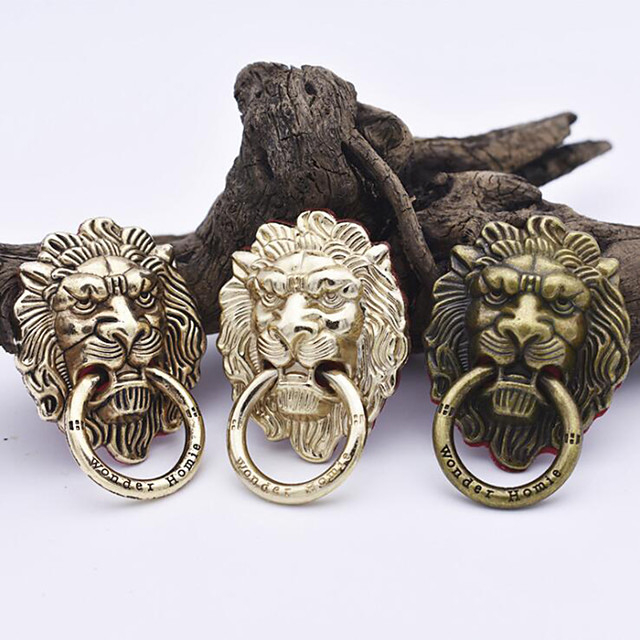 Universal Lion Head Metal Mobile Phone Stand 360 Degree Rotating Finger Ring Bracket Support for Cell Phone Tablet