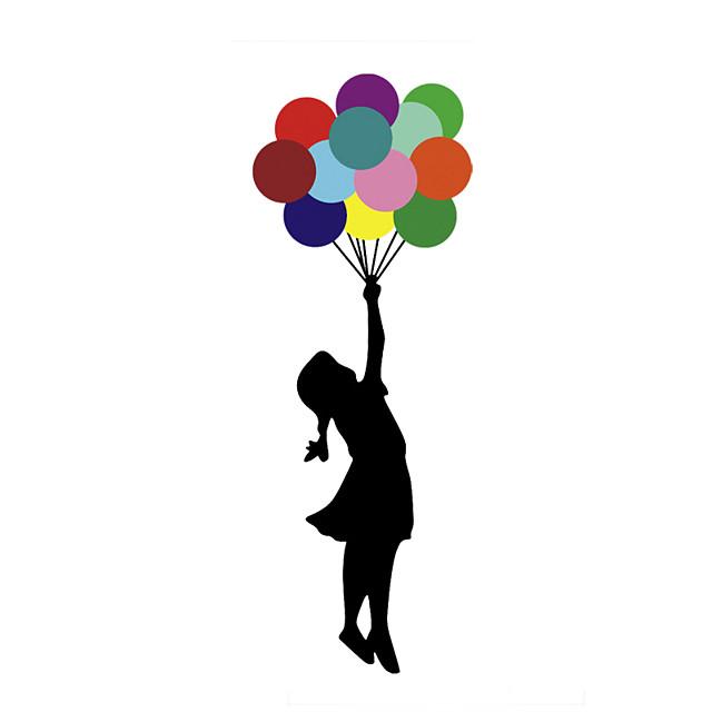 DIY Creative Stickers Little Girls Color Balloon Door PVC Graffiti Wall Stickers