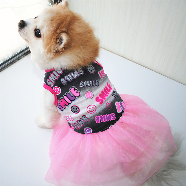 Dog Dress Word / Phrase Retro Vintage Casual / Daily Dog Clothes Puppy Clothes Dog Outfits Black Orange Costume for Girl and Boy Dog Cotton XS S M L