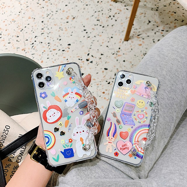 Case For Apple iPhone 11 Shockproof / Dustproof Back Cover Word / Phrase / Cartoon TPU For Case iphone 11 Pro/11 Pro Max/7/8/7P/8P/SE 2020/X/Xs/Xs MAX/XR
