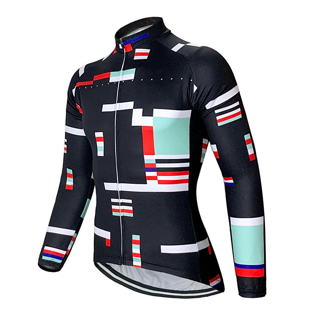 21Grams Men's Long Sleeve Cycling Jersey Black Bike Jersey Top Mountain Bike MTB Road Bike Cycling UV Resistant Breathable Quick Dry Sports Clothing Apparel / Stretchy