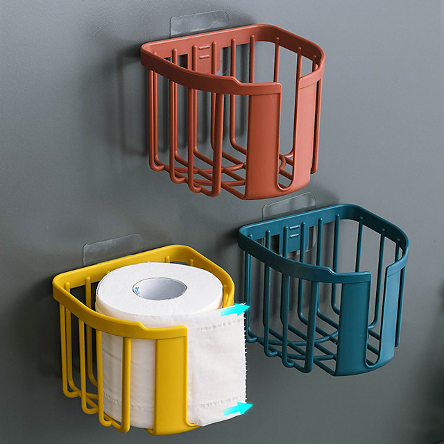 Toilet Paper Holder Self-adhesive / Multifunction Contemporary / Modern ABS+PC 1pc - Bathroom Wall Mounted
