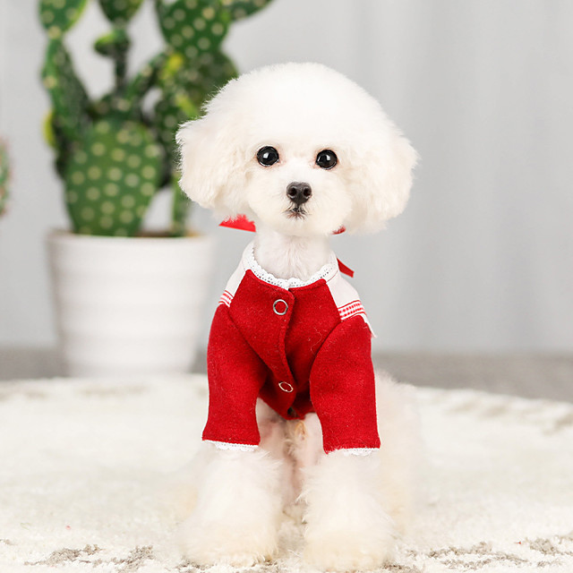 Dog Coat Plaid / Check Casual / Sporty Fashion Casual / Daily Winter Dog Clothes Puppy Clothes Dog Outfits Breathable Red Blue Costume for Girl and Boy Dog Cotton S M L XL XXL