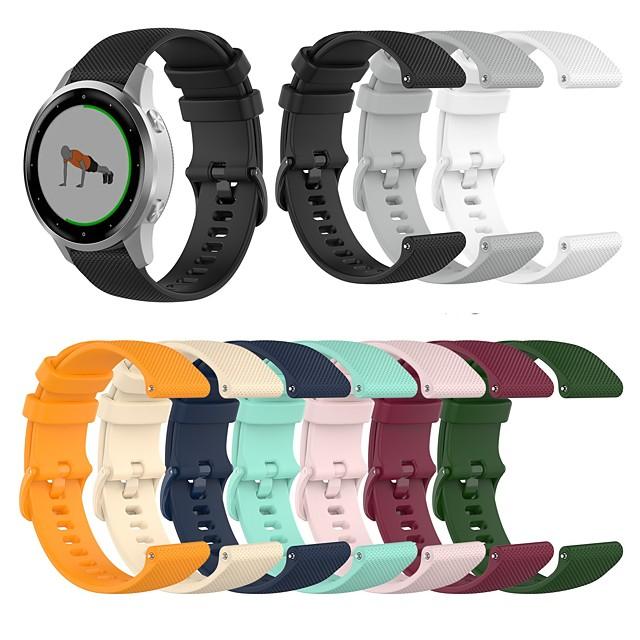 Watch Band for Vivomove HR / Vivoactive 3 / Forerunner 645 Garmin Classic Buckle Silicone Wrist Strap