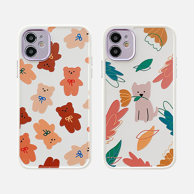 Case For Apple iPhone 11 Shockproof / Dustproof / Plating Back Cover Animal / Cartoon TPU For Case iphone 11 Pro/11 Pro Max/7/8/7P/8P/SE 2020/X/Xs/Xs MAX/XR