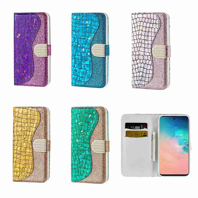 Case For Samsung Galaxy S20 Galaxy S20 Plus Galaxy S20 Ultra Wallet Card Holder with Stand Full Body Cases Glitter Shine PU Leather TPU for Galaxy A51 A71 A11 A21 A70 A50 A30S A40 A30 A20 A10
