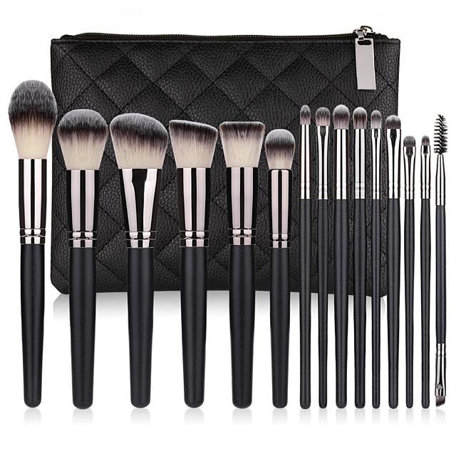 15 Pcs makeup brushes eyeshadow loose powder brush hair suit a full set of beauty tools